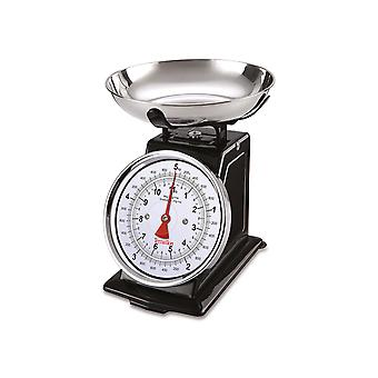 Terraillon Traditional Mechanic Kitchen Scales Black 14477
