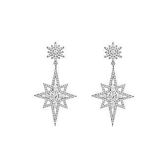 Ohrringe Northern Star Starburst 925 Silber Statement Drop Latelita Designer