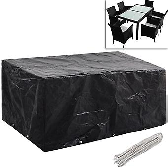 Garden furniture cover 6 people Poly Rattan 10 eyelets 240x140 cm