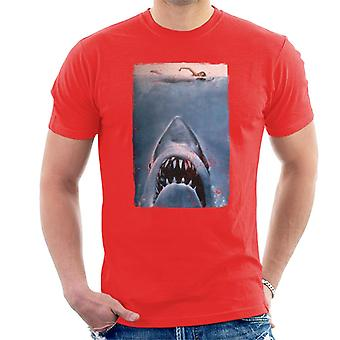 Jaws Classic Poster Stalking Prey Men's T-Shirt