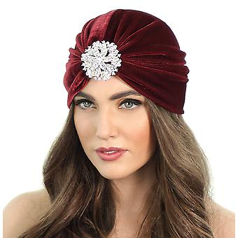 Turban cu clapetă florală