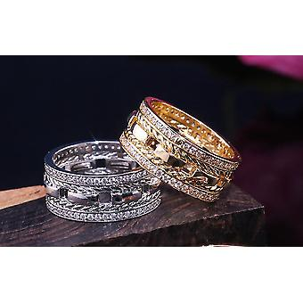 Handmade wide rings Zircon 925 silver gift