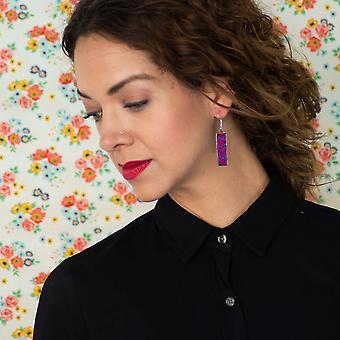 Embroidery Long Earrings