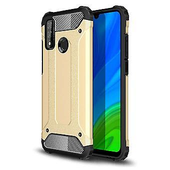 Stuff Certified® Huawei P40 Lite Armor Case - Silicone TPU Case Cover Cas Gold