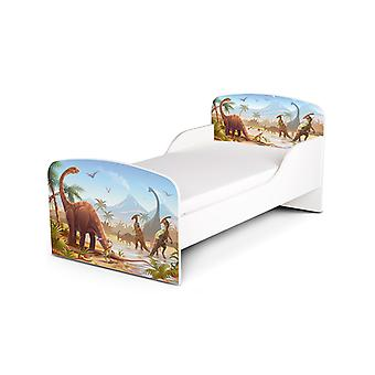PriceRightHome Jurassic Dinosaurs Toddler Bed plus Fibre Mattress