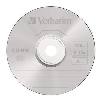 Verbatim 43480 12x cd-rw - 10 pack spindle single