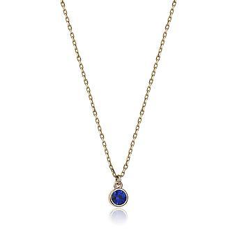 Safir guld halskæde - Marin