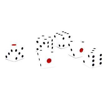 Nopat 6 kpl Valkoinen/Musta