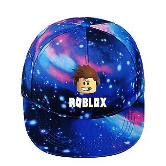 Miehet ja naiset teini-ikäiset hip hop cap sarjakuva kuvio suunnittelu tähtitaivas sky cap (sininen)