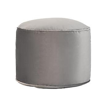 Slate Grey Round Bean Bag Foot Rest Stool Pouffe Living Room Beanbag Ottoman Footstools