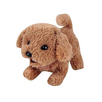 1pcs Electric Soft Realistic Teddy Dog Plush Walking Glowing Barking Dog