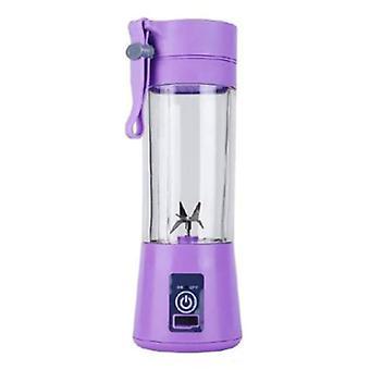 Licuadora portátil Qihui con 6 cuchillas de fresado - Extractor de jugo de batido portátil extractor de jugo púrpura