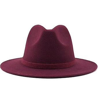 Männer Frauen breite Krempe Wolle Filz Jazz Fedora Hüte, Mütze