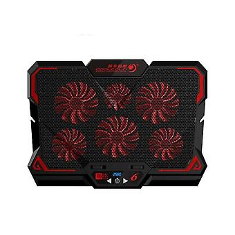 Gaming Laptop Cooler Six Fan Led Screen Two Usb Port  Cooling Pad Stand