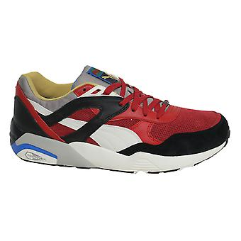 Puma Trinomic R698 Flag Lace Up Mens Red Black Leather Trainers 361450 03 D55