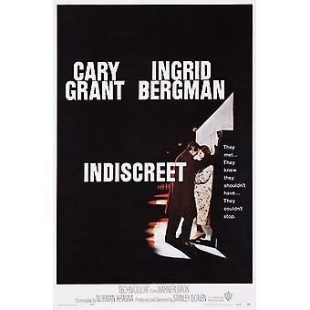 Indiskret uns Plakatkunst von linken Cary Grant Ingrid Bergman 1958 Film Poster Masterprint