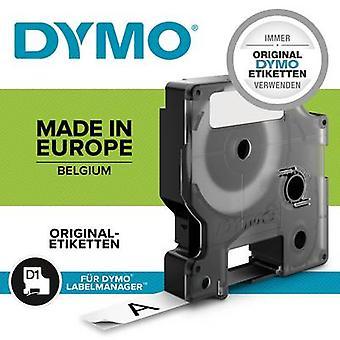 Etikettering tape DYMO D1 S0718060 Polyester Tape kleur: wit lettertype kleur: zwart 12 mm 5.5 m