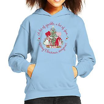 Holly Hobbie Christmas Sparkle og Fun Kid's Hooded Sweatshirt