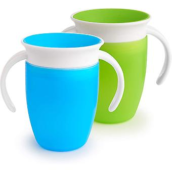 Munchkin miracle 360 trainer cup 207ml 2 pack  blue and green