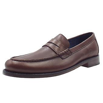 Chatham Mcqueen Men's Goodyear Welted Penny Loafers In Dark Brown