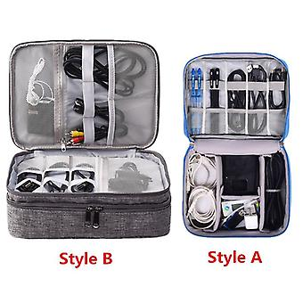 Travel Accessory Digital Bag, Power Bank, Usb Charger, Cable, Earphone Storage