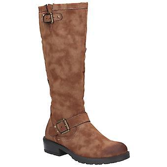 Divaz Courtney Womens Ladies Boots Tan UK Size