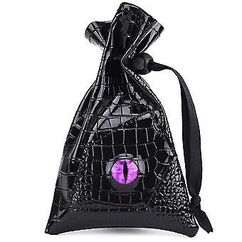 Dragon Eye Noppa laukku - Kiristysnyöri pu nahka dnd noppa varastointi laukku