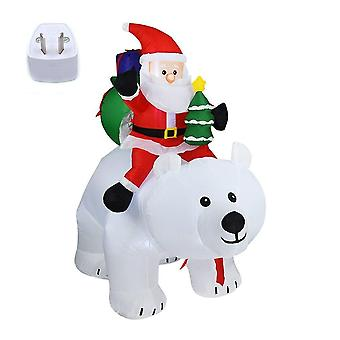 Giant Inflatable Santa Claus Riding Polar Bear