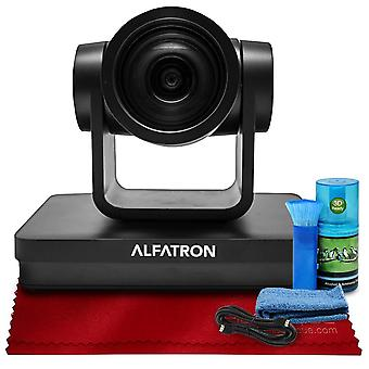 Alfatron alf-12x-sdic 1080p ptz camera, 12x zoom lens with 6-foot hdmi cable, cleaning kit, and more in basic accessories bundle for ps99911