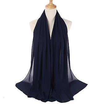 Chiffon Hijab Mulheres Bolha Simples Chiffon Cachecol