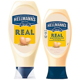 Hellmann's Real 100% Oeufs Free Range Mayonnaise 2 Bouteilles serrantes de 430ml&750ml