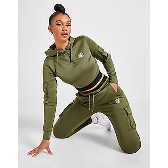 New SikSilk Women's Cargo Pocket Joggers from JD Outlet Green