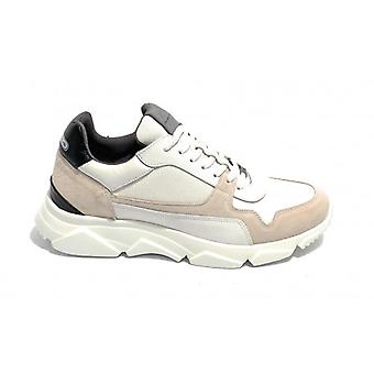 Pantofi pentru barbati Ambitioasa 9509 Sneaker Color Alb / Gri / Black Bottom High U21am03