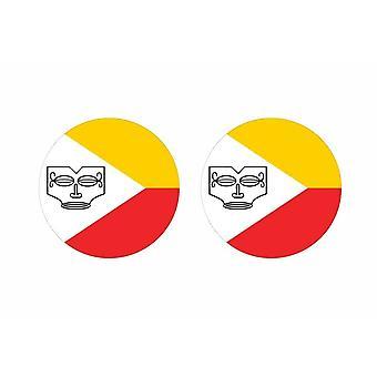 2x stick klistermärke rund kackerlacka flagga markis polynesie
