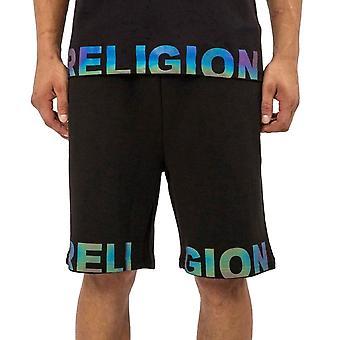 Religion 11trop77 Right Of Shorts Reflect Logo Jersey Short - Black