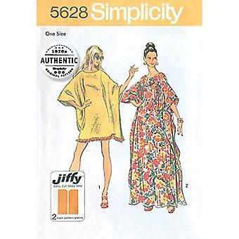 תבנית תפירה פשטות 5628 מפספס שמלות וינטג ' קפיטן גודל אחד