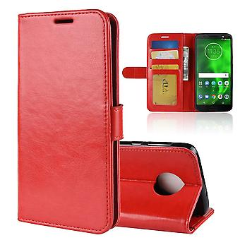 Magnetic Elegant Leather Case for Motorola Moto X4 - red