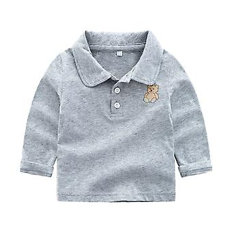 Baby Cotton Solid Shirt, Syksyn Kevät T-paita