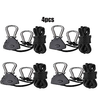 4pcs 1 / 8 tommer Heavy Duty Justerbar Grow Light Ratchet Rope Hanger Yoyo For Grow Lamper Havearbejde
