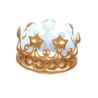 Gouden opblaasbare koningskroon