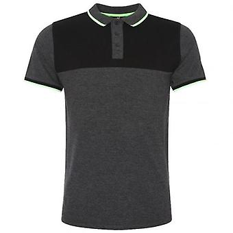 Liverpool Neon Panel Polo Mens Charcoal S