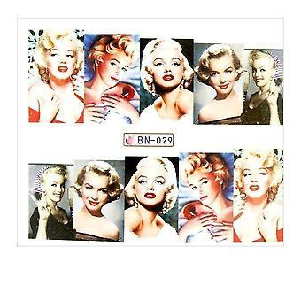 Vattendekaler - Marilyn Monroe - BN-029 - För naglar