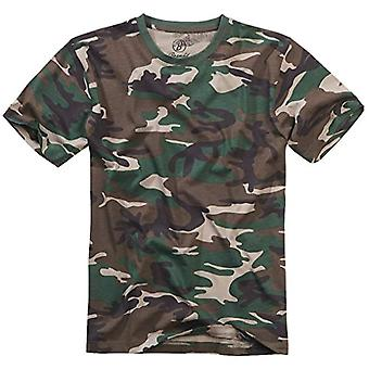 Brandit T-shirt, Many (Camouflage Colors, Sizes S Up to 7XL - Wood, 5XL