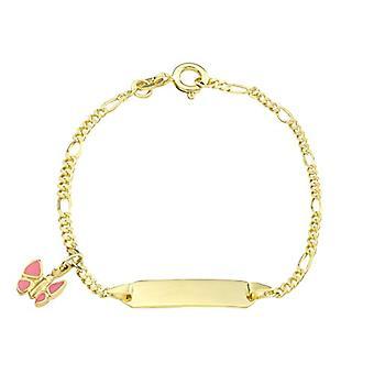 kjærlighet jente identifikasjon armbånd, gull 375, sommerfugl