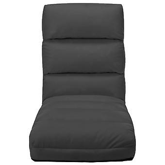 vidaXL chaise de plancher pliant Anthrax en simili-faux