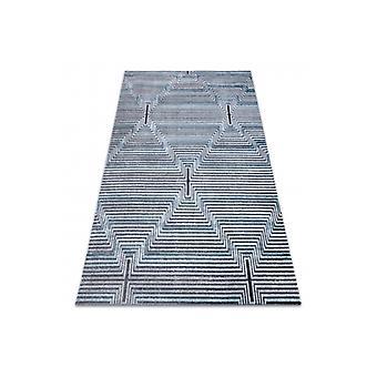 Rug Structural SIERRA G5018 Flat woven blue - stripes, diamonds