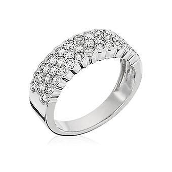 Ring 'Trophy' Witgoud en Diamanten