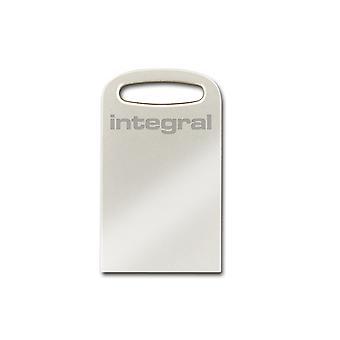 Integral 64GB USB3.0 Memory Flash Drive (Memory Stick) Fusion Metal + Keylace