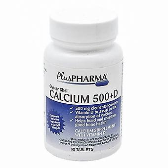 Plus Pharma Oyster Shell Calcium with Vitamin D, 500mg, 60 Tabs