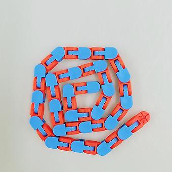 Quebra-cabeça colorido Fidget Brinquedos Malucos Rastreia Snap e Clique Brinquedos Crianças Autismo Snake Puzzles